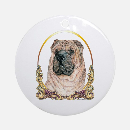 Chinese Shar Pei Holiday Ornament (Round)