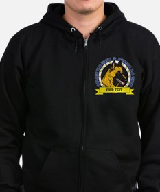Personalized K9 Unit Belgian Malinois Zip Hoodie