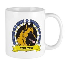 Personalized K9 Unit Belgian Malinois Mug
