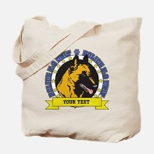 Personalized K9 Unit Belgian Malinois Tote Bag