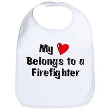 My Heart: Firefighter Bib