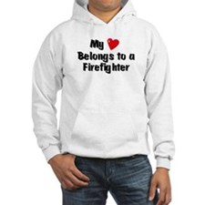 My Heart: Firefighter Hoodie Sweatshirt