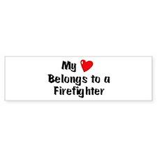 My Heart: Firefighter Bumper Bumper Sticker