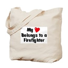 My Heart: Firefighter Tote Bag