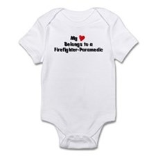 My Heart: Firefighter-Paramed Infant Bodysuit