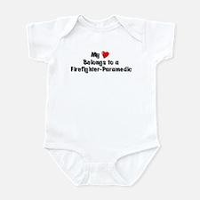 My Heart: Firefighter-Paramed Infant Bodysuit