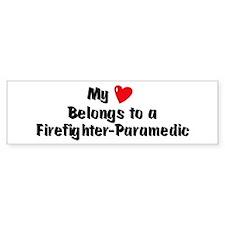 My Heart: Firefighter-Paramed Bumper Bumper Sticker
