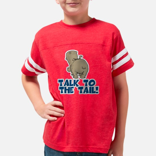 Talk to the Tail Hippo Youth Football Shirt