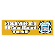 Coast Guard Wife Bumper Car Sticker