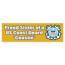 Coast Guard Sister Bumper Car Sticker