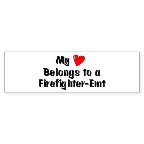 My Heart: Firefighter-Emt Bumper Sticker