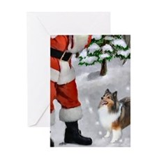 Shetland Sheepdog Christmas Greeting Card