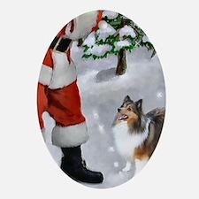 Shetland Sheepdog Christmas Ornament (Oval)