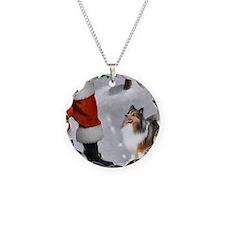 Shetland Sheepdog Christmas Necklace