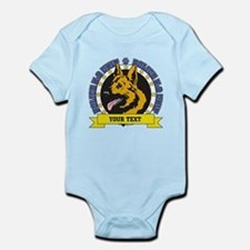 Personalized K9 German Shepherd Infant Bodysuit