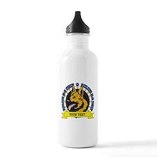 Personalized K9 German Shepherd Water Bottle