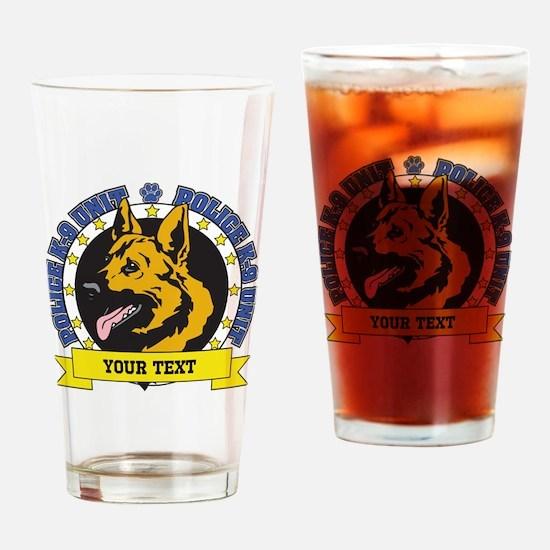 Personalized K9 German Shepherd Drinking Glass