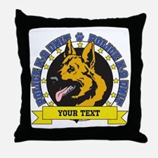 Personalized K9 German Shepherd Throw Pillow