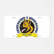 Personalized K9 German Shepherd Aluminum License P