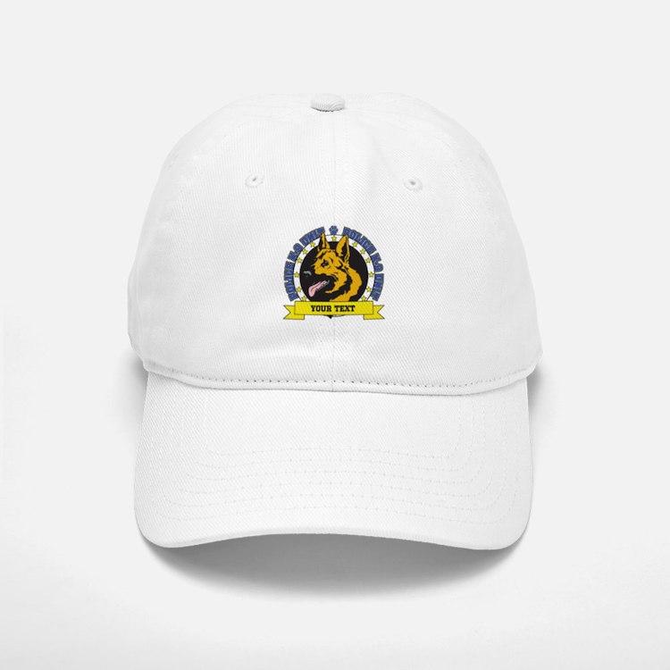 Personalized K9 German Shepherd Baseball Baseball Cap