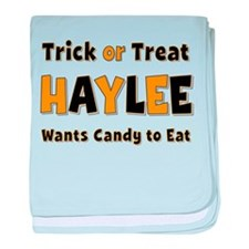 Haylee Trick or Treat baby blanket