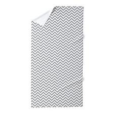 Grey and White Chevron Beach Towel