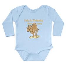 Wednesday Camel Long Sleeve Infant Bodysuit
