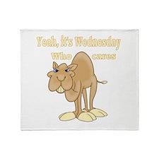 Wednesday Camel Throw Blanket