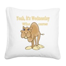 Wednesday Camel Square Canvas Pillow