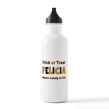 Felicia Trick or Treat Water Bottle