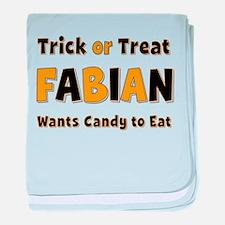 Fabian Trick or Treat baby blanket