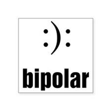 "Bipolar Square Sticker 3"" x 3"""
