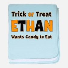 Ethan Trick or Treat baby blanket