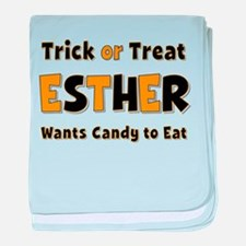 Esther Trick or Treat baby blanket