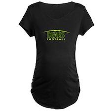 Bears Neon Football Maternity T-Shirt