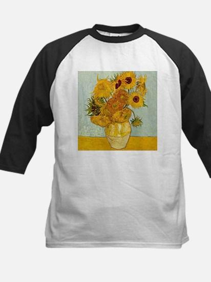 Vincent Van Gogh Sunflower Paintin Baseball Jersey