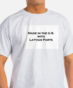 Made in the U.S. with Latvian Parts Ash Grey T-Shi