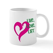 Live, Love, Lift Mug