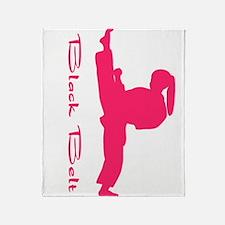 Martial Arts Lesson Throw Blanket