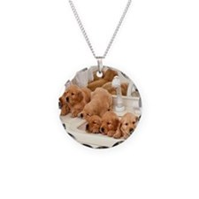 Puppies in a sink Necklace