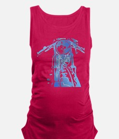 Cafe Racer Motorcycle Maternity Tank Top