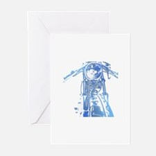 Cafe Racer Motorcycle Greeting Cards (Pk of 10)