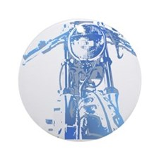 Cafe Racer Motorcycle Ornament (Round)