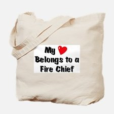My Heart: Fire Chief Tote Bag