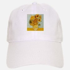 Vincent Van Gogh Sunflower Painting Baseball Baseball Cap