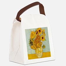 Vincent Van Gogh Sunflower Painti Canvas Lunch Bag