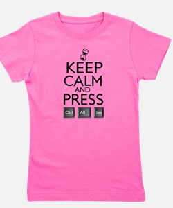 Keep Calm and press control Alt funny Girl's Tee