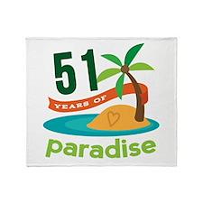 51st Anniversary Paradise Throw Blanket