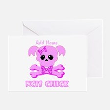 Personalized NCIS Chick Greeting Card