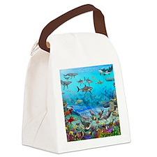 Sea World Mural Canvas Lunch Bag